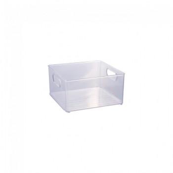 Organizador Multiuso de Plástico Cristal 20,0x20,0x10,4cm Geladeira - 13026 - Plasutil - Loladecor