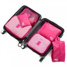Organizador de Mala com 7 peças - Pink - Loladecor Artigos e Decorações