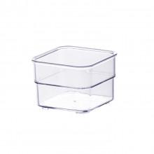 Organizador Diamond 7,5X7,5X5,2 Cm Cristal - Paramount 933