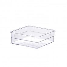 Organizador Diamond 15X15X5,2 Cm Cristal - Paramount 937