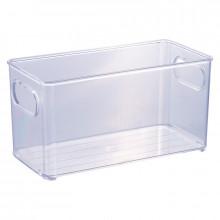 Organizador Multiuso de Plástico Cristal 20,0x10,0x10,4cm - 13022 - Plasutil