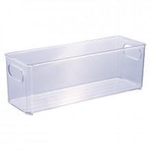 Organizador Multiuso de Plástico Cristal 30,0x10,0x10,4cm - 13023 - Plasutil