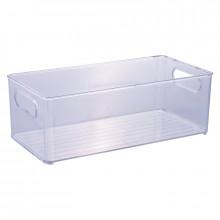 Organizador Multiuso de Plástico Cristal 30,0x15,0x10,4cm - 13025 - Plasutil