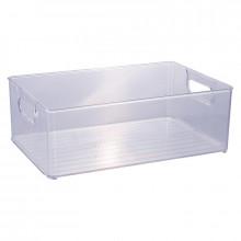 Organizador Multiuso de Plástico Cristal 30,0x20,0x10,4cm - 13027 - Plasutil