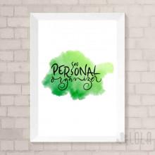 Poster A4 - Sou Personal Organizer - Verde - Loladecor Artigos e Decorações