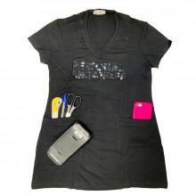 Camiseta Cobre Legging - Preta - Personal Organizer - Bordado Preto - Loladecor