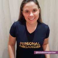 Camiseta Personal Organizer B.Look Preta com Dourado Tam G