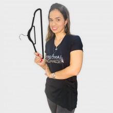 Camiseta Personal Organizer CobreLegging Preta com Prata Tam G