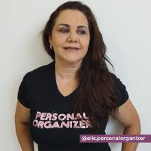 Camiseta Personal Organizer Baby Look Preta com Rosa Tam M
