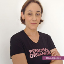 Camiseta Personal Organizer Baby Look Preta com Rosa Tam P
