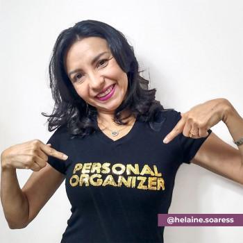 Camiseta Personal Organizer B.Look Preta com Dourado Tam M