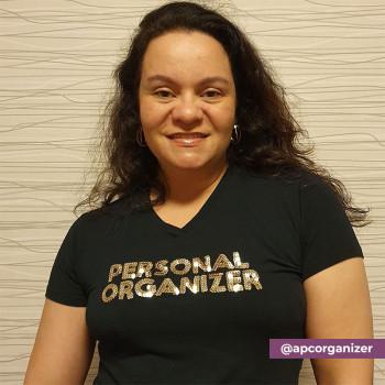 Camiseta Personal Organizer B.Look Preta com Dourado Tam GG