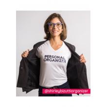 Camiseta Personal Organizer B.Look Branca com Preto Tam P