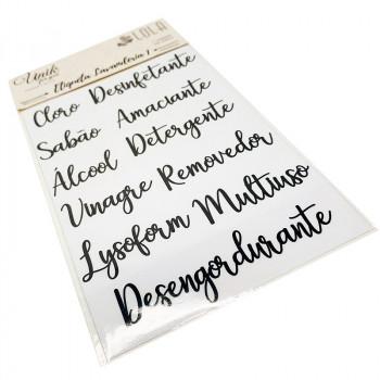 Etiqueta Lavanderia 1 - Produtos de Limpeza - Loladecor - Unik For You