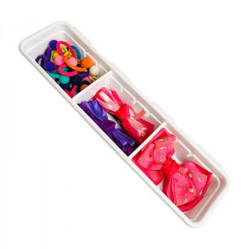 Organizador de Gaveta de Plástico com 2 Divisórias Móveis L1 (30,0x7,9x5,0 cm) - 9725 - Plasutil