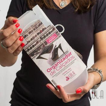 Organizador de Sapatos - Kit com 10 peças - Translúcido - Loladecor Artigos e Decorações