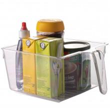 Organizador Multiuso de Plástico Quadrado Com Pega Geladeira 9548 - Plasutil - Loladecor
