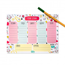 Planner Semanal Gatos - 24 folhas - Loladecor
