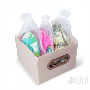 Saco de Organza - 16x22cm - kit com 10 peças - Branco - Loladecor Artigos e Decorações